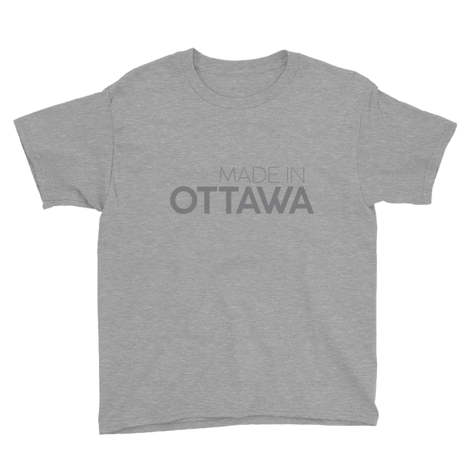 Made in Ottawa - Youth Grey Short Sleeve T-Shirt