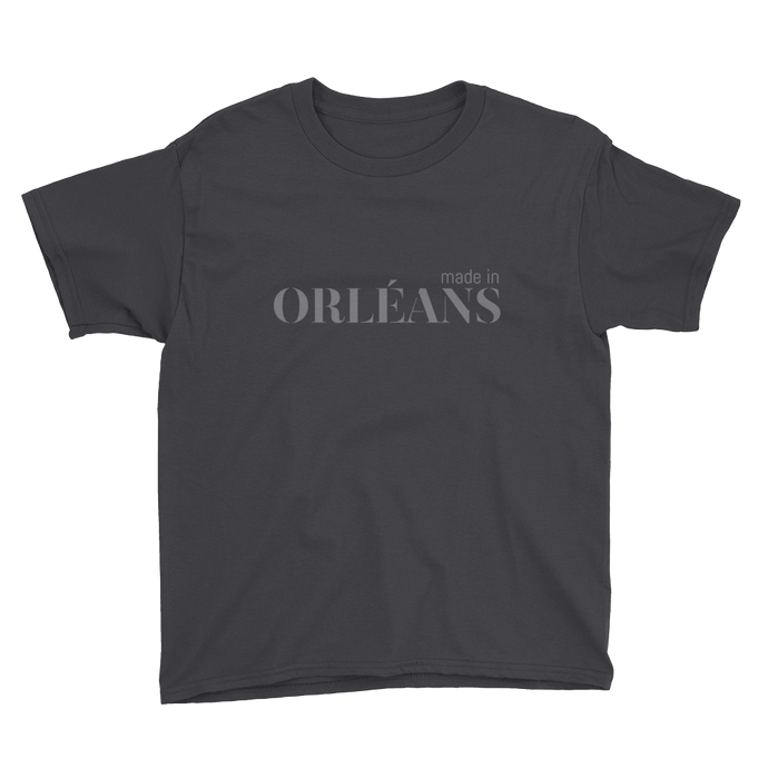 Made in Orléans - Youth Black Short Sleeve T-Shirt