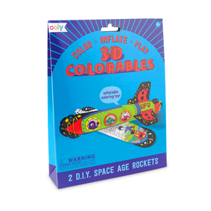 Space Rockets Colorable Inflatables