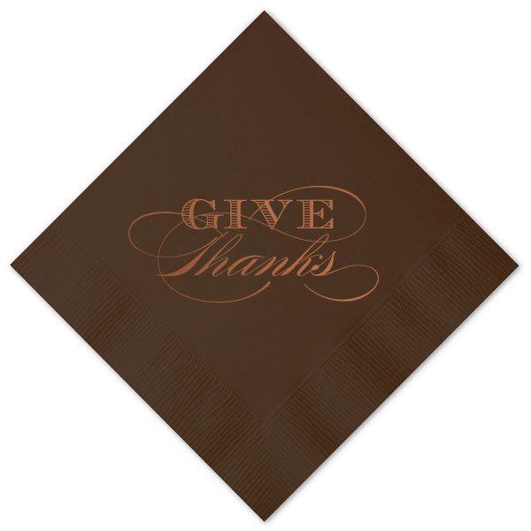 Give Thanks Beverage Napkins