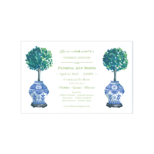 Topiary Invitation