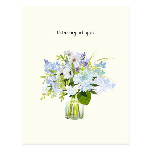 Lavender Blue Thinking of You Card