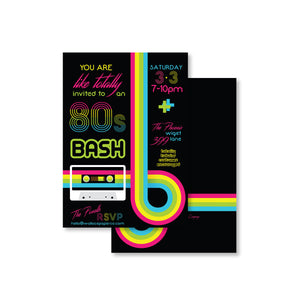 Totally 80s Invitation