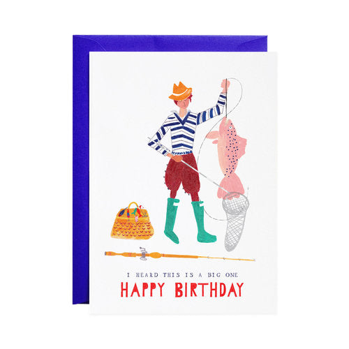 Big Mackeral Birthday Card