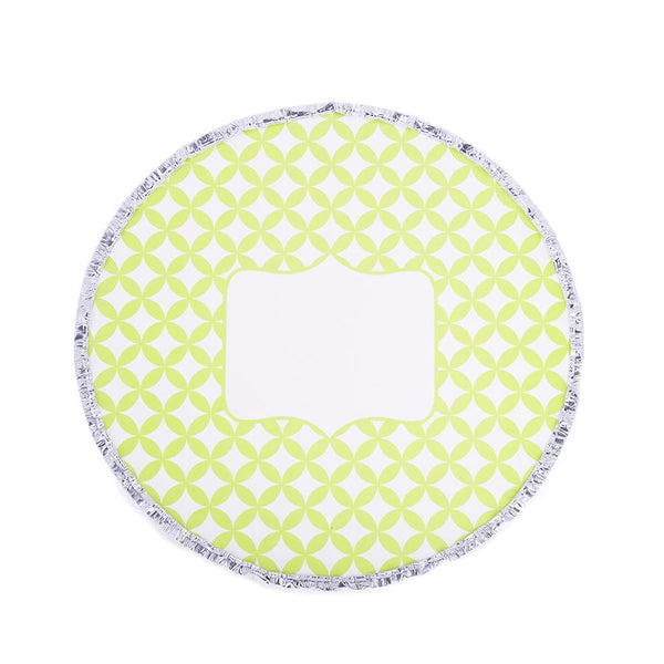 Round Foil Pan / Lime Medallion