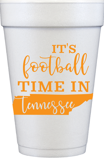 It's Football Time Foam Cups