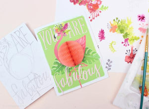 Flamingo Fabulous Pop-Up Card
