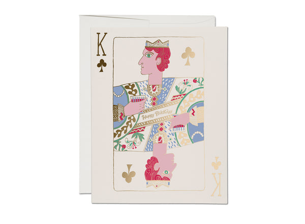 King of Clubs Birthday Card