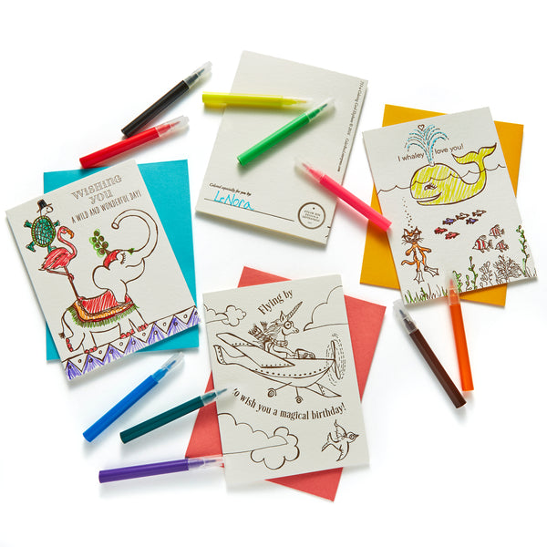 Coloring Cards Kit