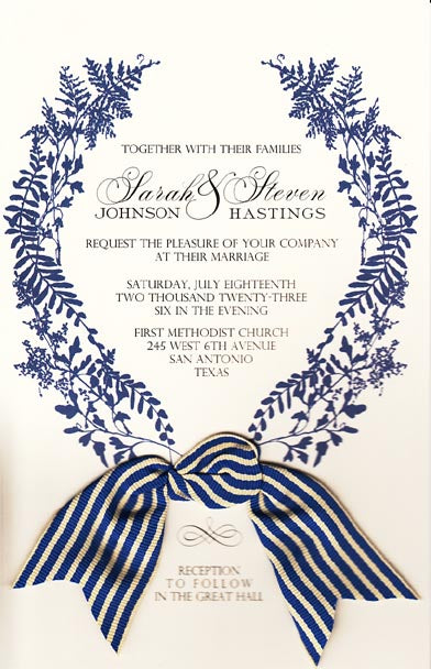 Wild Parsley & Fern Invitation
