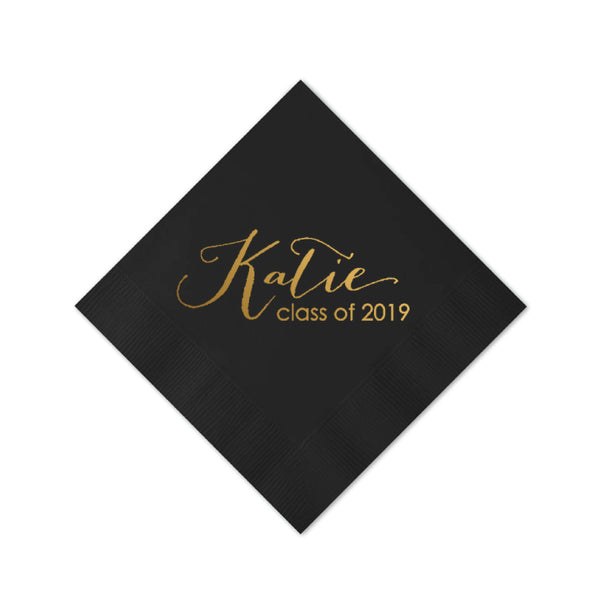 Graduation Script Personalized Napkins