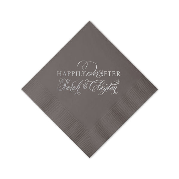 Happily Ever After Personalized Napkins