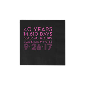 Countdown Modern Personalized Napkins