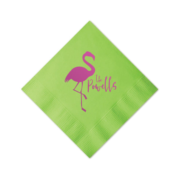 Flamingo Personalized Napkins