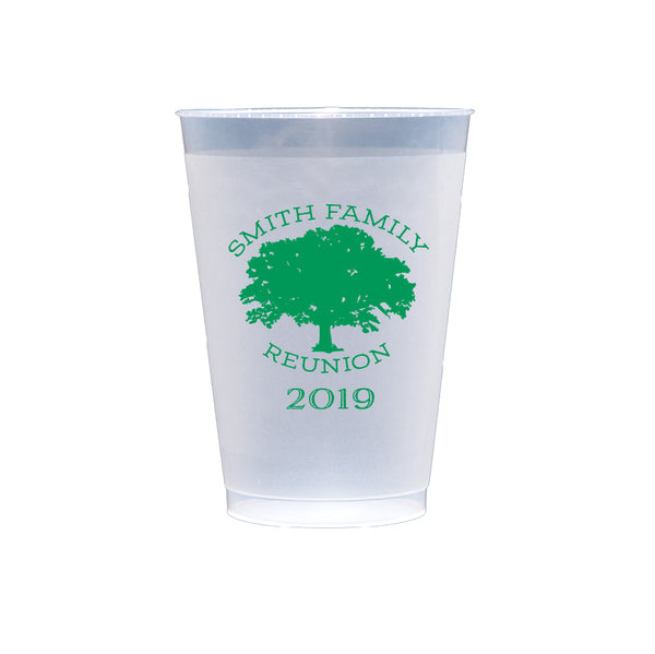 Family Tree Reunion Frosted Shatterproof Cups