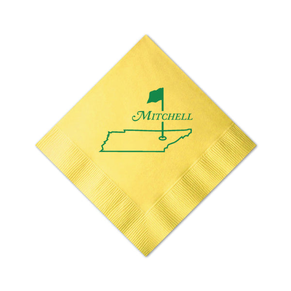 Golf Personalized Napkins