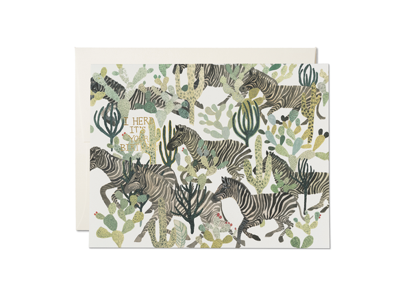 Zebra Herd It's Your Birthday Card