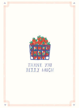 Basket of Berries Thank You Card