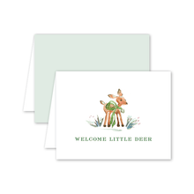 Load image into Gallery viewer, Welcome Deer Baby Card
