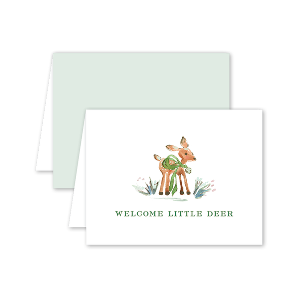 Welcome Deer Baby Card