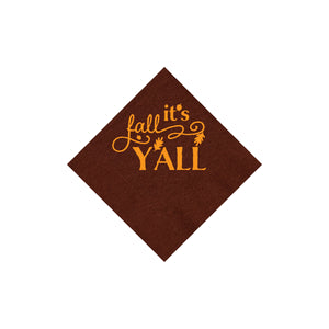 It's Fall Y'all Cocktail Napkins