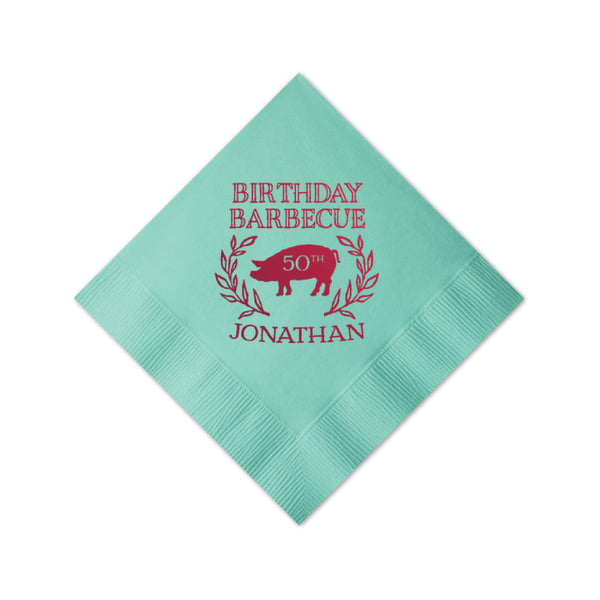 Birthday Barbecue Personalized Napkins