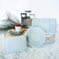 Large Foil Pan / Grey Birch