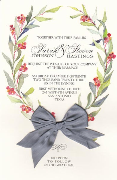 Pepper Berries Invitation