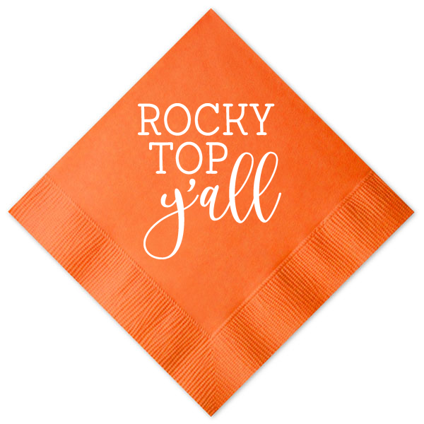 Rocky Top Y'all Cocktail Napkins - Orange
