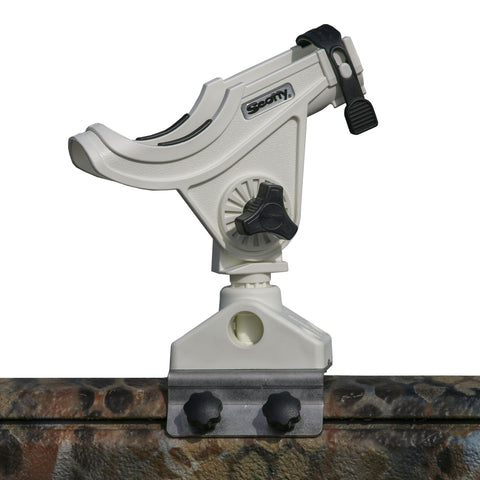 Bait Caster/Spinning Rod Holder - White - With T Bolt Bracket