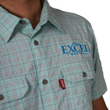 Deep Apparel - Blue Plaid Short Sleeve