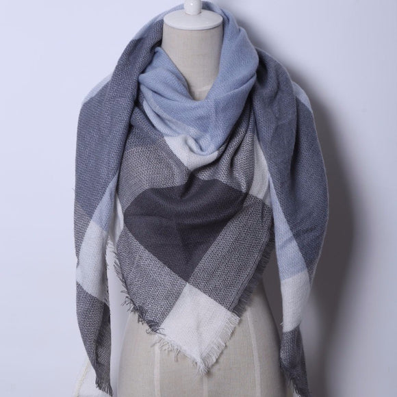 Cashmere Plaid Scarf - EZShopping