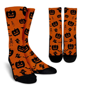 Crew Socks Halloween Madness (Black on Orange) - EZShopping