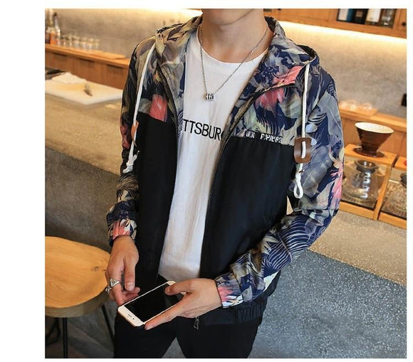 Floral Bomber Jacket Men Slim Fit - EZShopping
