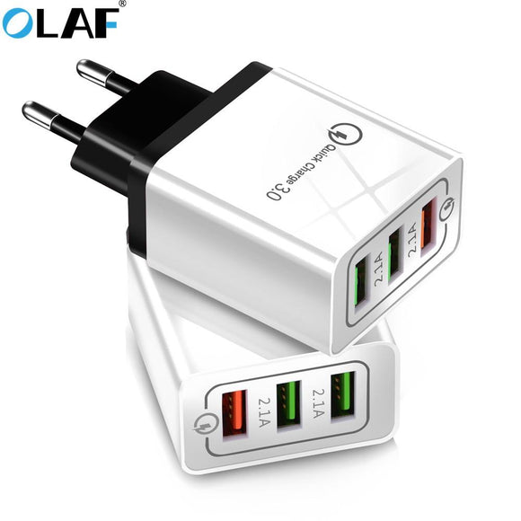 Olaf USB Charger quick charge 3.0 for iPhone X 8 7 iPad Fast Wall Charger for Samsung S9 Xiaomi mi 8 Huawei Mobile Phone Charger - EZShopping