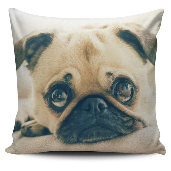 Pillow Cover Pug Puppy Watercolor - EZShopping