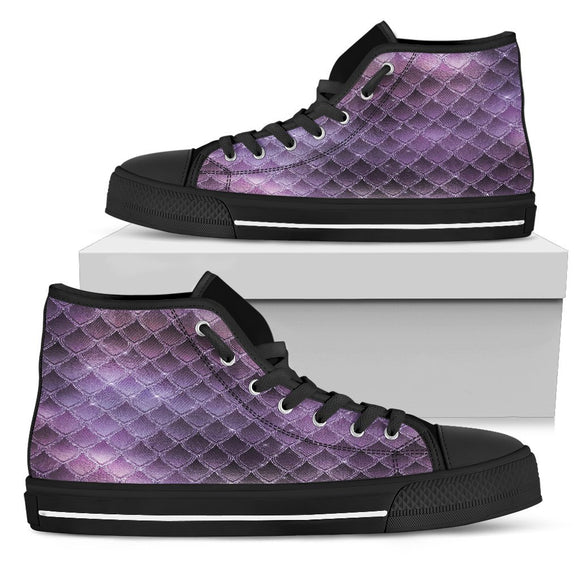 Purple Sparkle Mens High Top Shoes - EZShopping