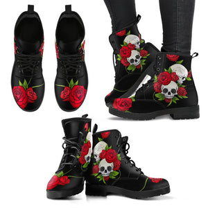 Skull & Roses Handcrafted Boots - EZShopping