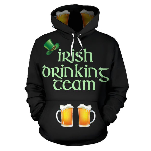St Patricks Day All Over Hoodie - EZShopping