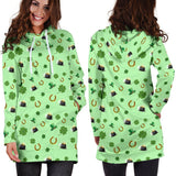 St Patricks Day Womens Hoodie Dress - EZShopping