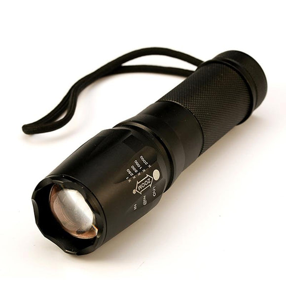 Tactical Flashlight 5000 Lumens led Torch Zoomable LED light Lamp - EZShopping