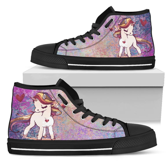 Unicorn Black Women's High Top - EZShopping