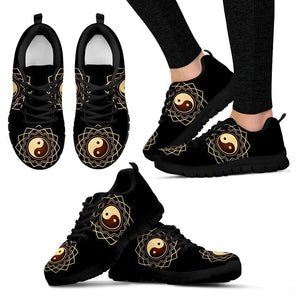 Yin and Yang Black Women's Sneakers - EZShopping