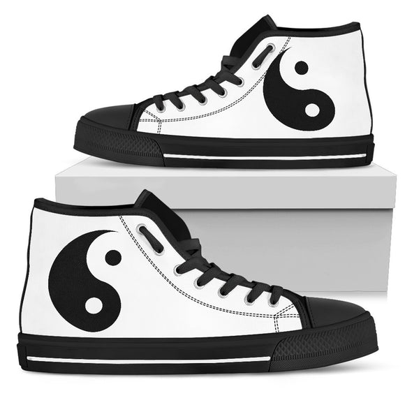 Yin Yang Womens High Top White - EZShopping