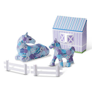 Melissa and Doug Decoupage Made Easy Deluxe Craft Set - Horse & Pony