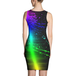 Neon Color Splash Dress