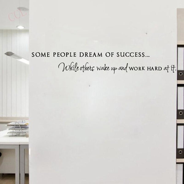 Wake Up Work Hard Motivational Vinyl Wall Sticker
