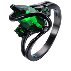 Marquise Green Zircon Ring
