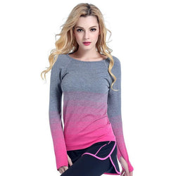 Dry Quick Long Sleeve T-Shirts Fitness Casual