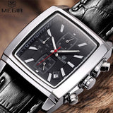 MEGIR Men's Fashion Rectangle Watch